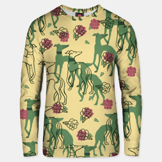 Miniaturka Greyhounds and Roses Unisex sweater, Live Heroes