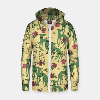 Miniaturka Greyhounds and Roses Zip up hoodie, Live Heroes