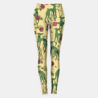 Miniaturka Greyhounds and Roses Leggings, Live Heroes