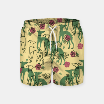 Miniaturka Greyhounds and Roses Swim Shorts, Live Heroes
