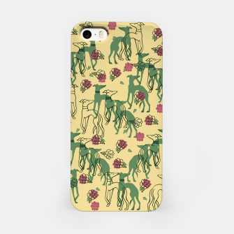 Miniaturka Greyhounds and Roses iPhone Case, Live Heroes