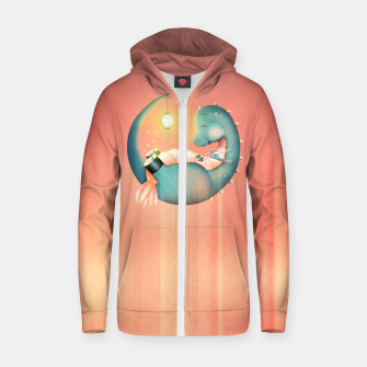 Thumbnail image of Sushi Dinosaur Zip up hoodie, Live Heroes