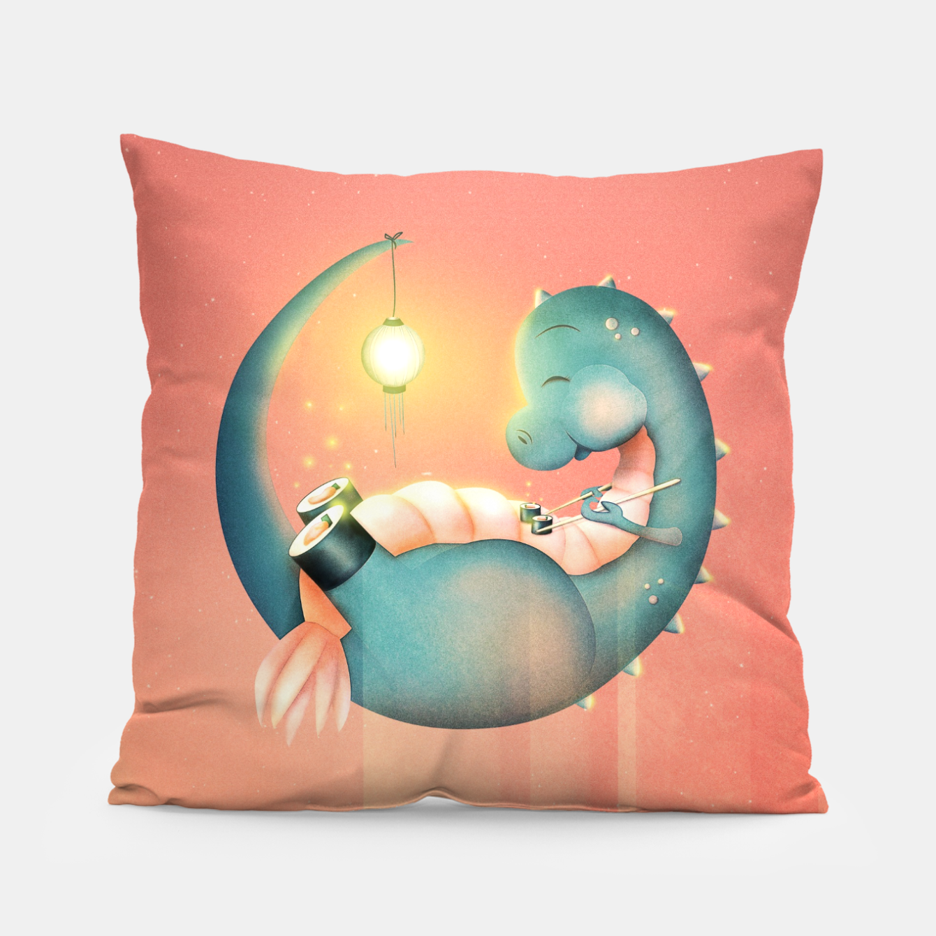 Image of Sushi Dinosaur Pillow - Live Heroes