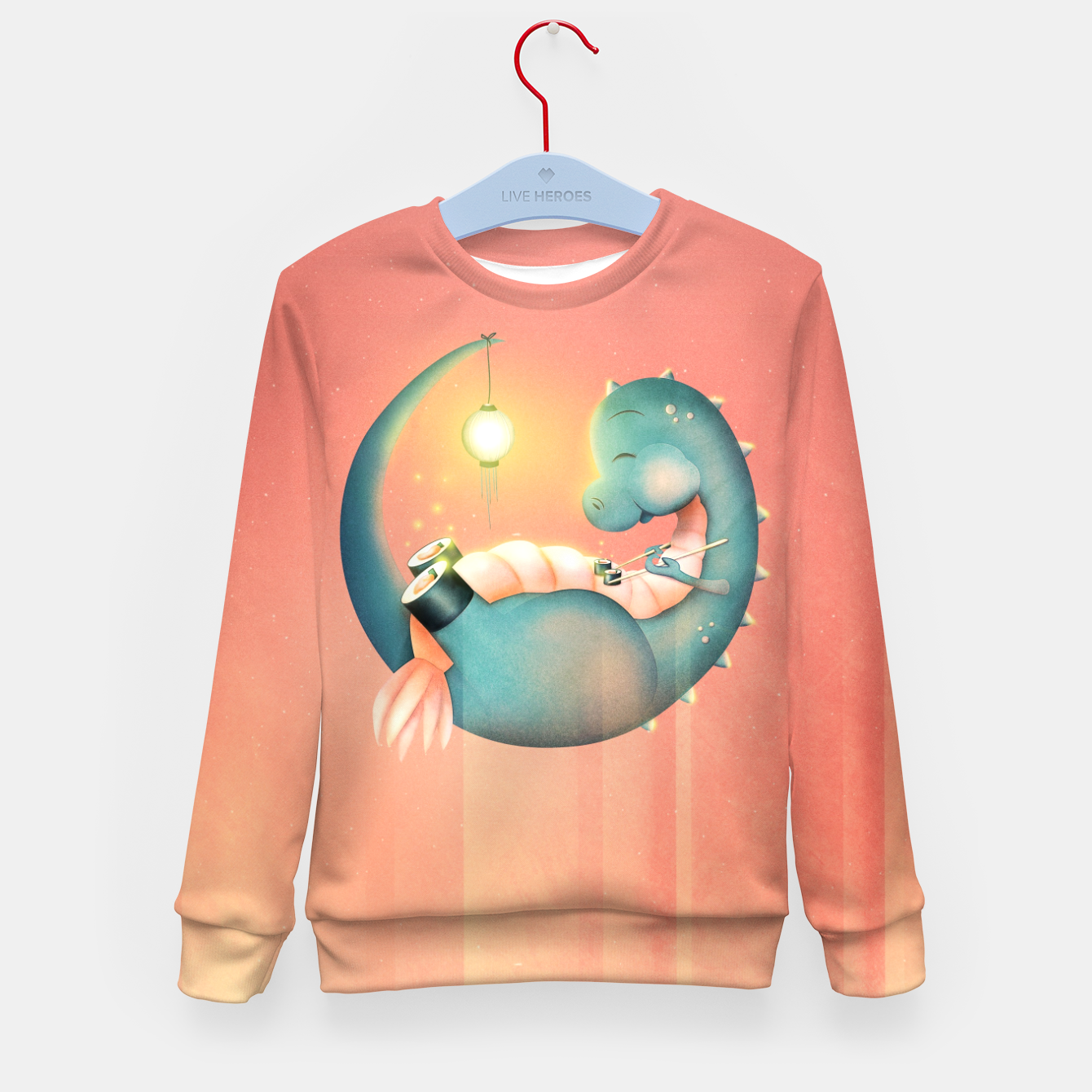 Image of Sushi Dinosaur Kid's sweater - Live Heroes