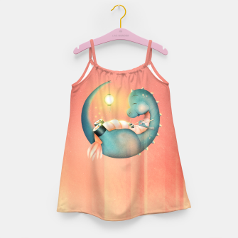 Sushi Dinosaur Girl's dress Bild der Miniatur