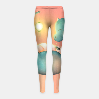 Thumbnail image of Sushi Dinosaur Girl's leggings, Live Heroes