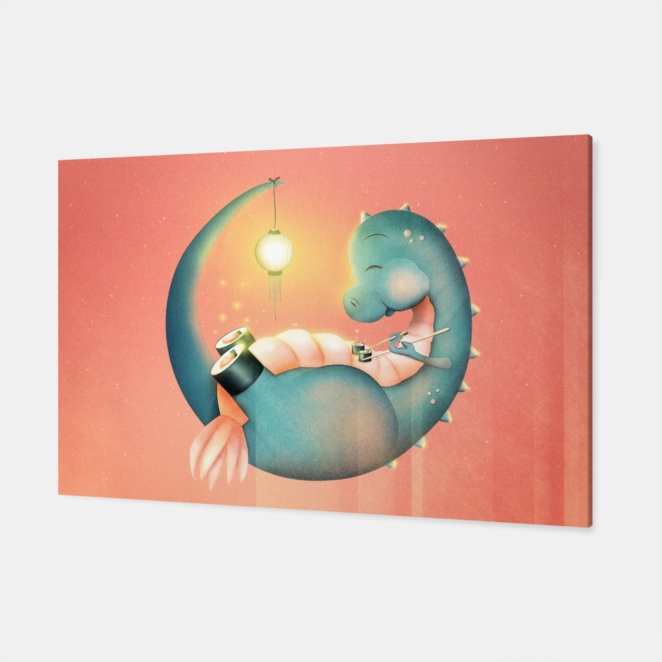 Image of Sushi Dinosaur Canvas - Live Heroes