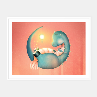 Thumbnail image of Sushi Dinosaur Framed poster, Live Heroes