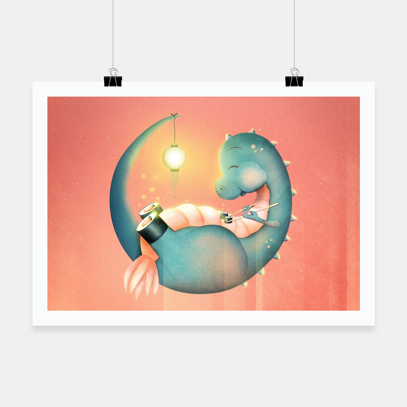 Image of Sushi Dinosaur Poster - Live Heroes