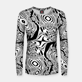 Thumbnail image of Monochrome Mandala Tigers Women sweater, Live Heroes