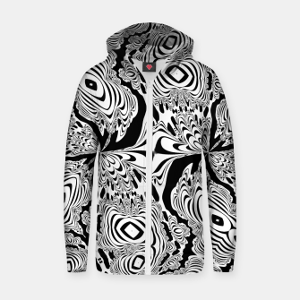 Thumbnail image of Monochrome Mandala Tigers Zip up hoodie, Live Heroes
