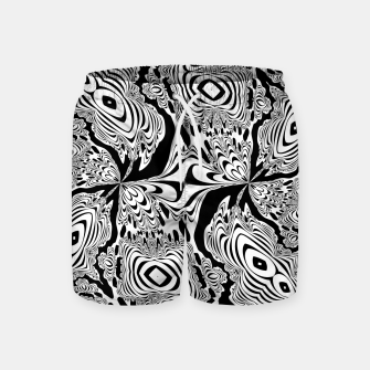 Thumbnail image of Monochrome Mandala Tigers Swim Shorts, Live Heroes