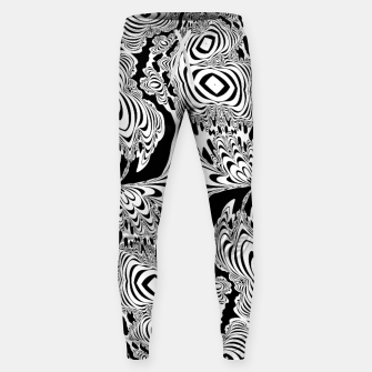 Thumbnail image of Monochrome Mandala Tigers Sweatpants, Live Heroes