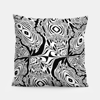 Thumbnail image of Monochrome Mandala Tigers Pillow, Live Heroes