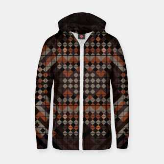 Thumbnail image of Triangles Mosaic Zip up hoodie, Live Heroes
