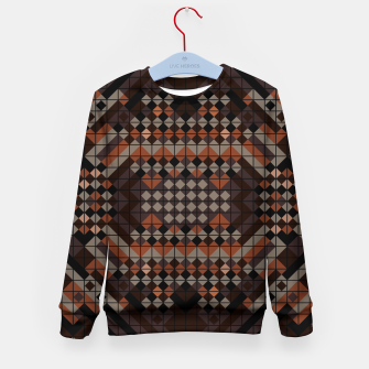 Thumbnail image of Triangles Mosaic Kid's sweater, Live Heroes