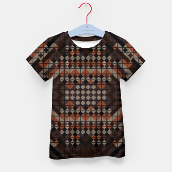 Thumbnail image of Triangles Mosaic Kid's t-shirt, Live Heroes