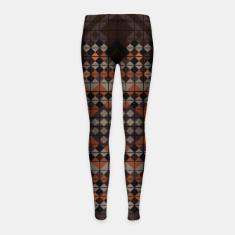 Thumbnail image of Triangles Mosaic Girl's leggings, Live Heroes