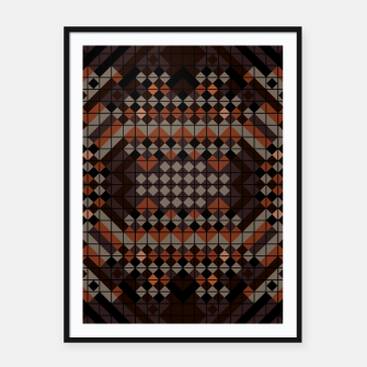 Thumbnail image of Triangles Mosaic Framed poster, Live Heroes