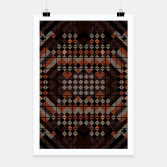 Thumbnail image of Triangles Mosaic Poster, Live Heroes