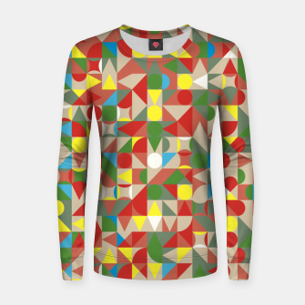 Thumbnail image of Geometric Color Mosaic Women sweater, Live Heroes
