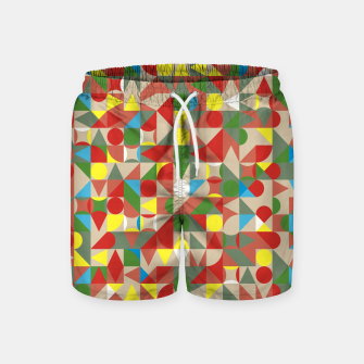 Thumbnail image of Geometric Color Mosaic Swim Shorts, Live Heroes