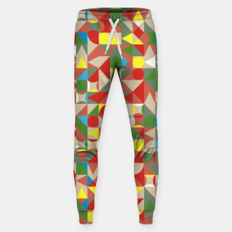 Thumbnail image of Geometric Color Mosaic Sweatpants, Live Heroes