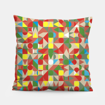 Thumbnail image of Geometric Color Mosaic Pillow, Live Heroes