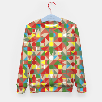 Thumbnail image of Geometric Color Mosaic Kid's sweater, Live Heroes