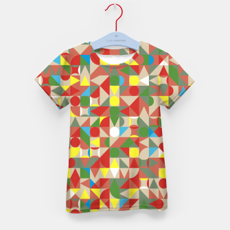Thumbnail image of Geometric Color Mosaic Kid's t-shirt, Live Heroes