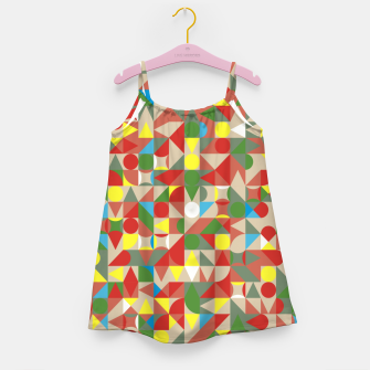 Thumbnail image of Geometric Color Mosaic Girl's dress, Live Heroes