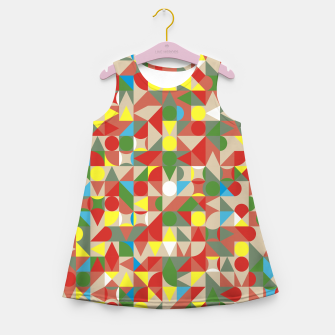 Thumbnail image of Geometric Color Mosaic Girl's summer dress, Live Heroes