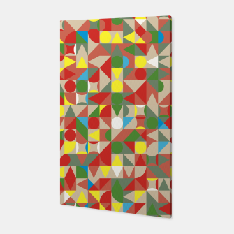 Thumbnail image of Geometric Color Mosaic Canvas, Live Heroes