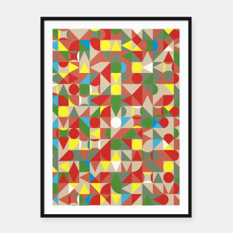 Thumbnail image of Geometric Color Mosaic Framed poster, Live Heroes