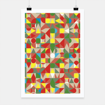 Thumbnail image of Geometric Color Mosaic Poster, Live Heroes