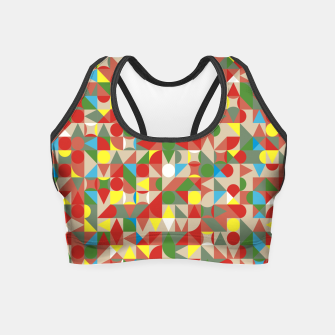 Thumbnail image of Geometric Color Mosaic Crop Top, Live Heroes