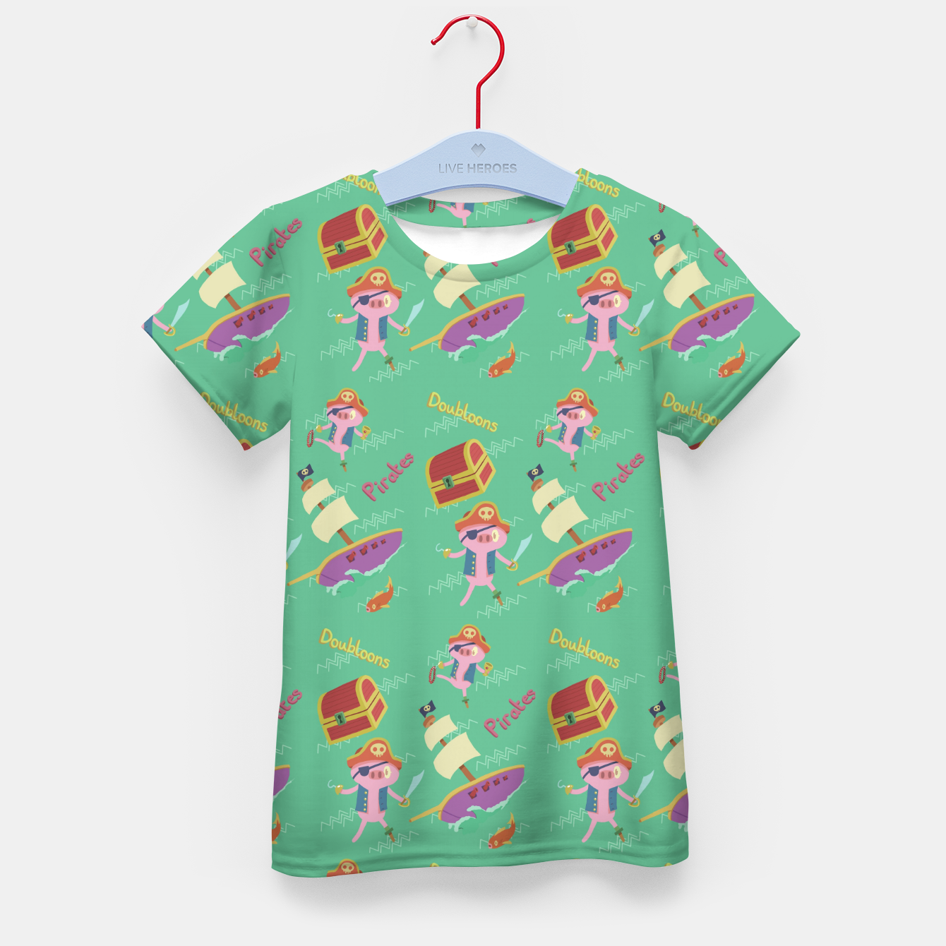 Image of Pirate pig Kid's t-shirt - Live Heroes