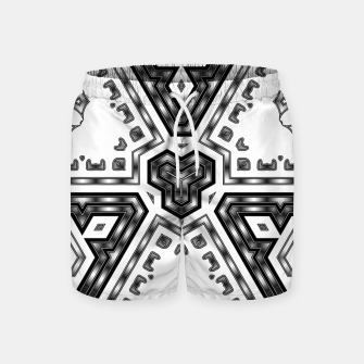 Thumbnail image of Metallic Angles Swim Shorts, Live Heroes