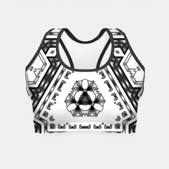 Miniatur Metallic Angles Crop Top, Live Heroes