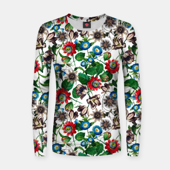 Miniatur Botanical Flowers Women sweater, Live Heroes