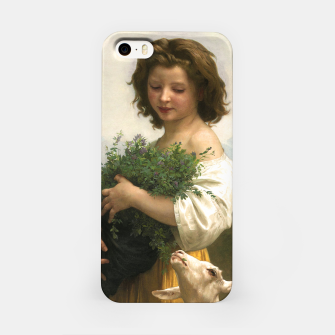 Thumbnail image of Little Esmeralda by William Adolphe Bouguereau iPhone Case, Live Heroes