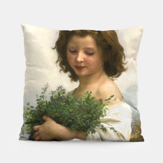 Thumbnail image of Little Esmeralda by William Adolphe Bouguereau Pillow, Live Heroes