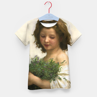Thumbnail image of Little Esmeralda by William Adolphe Bouguereau Kid's t-shirt, Live Heroes