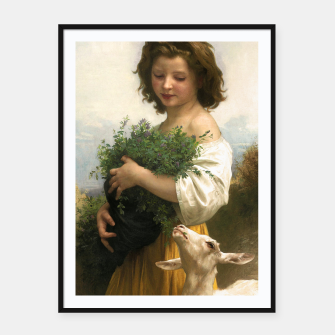 Thumbnail image of Little Esmeralda by William Adolphe Bouguereau Framed poster, Live Heroes