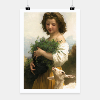 Thumbnail image of Little Esmeralda by William Adolphe Bouguereau Poster, Live Heroes