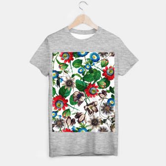 Miniatur Botanical Flowers T-shirt regular, Live Heroes