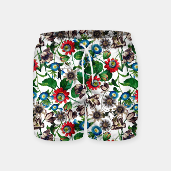 Miniatur Botanical Flowers Swim Shorts, Live Heroes