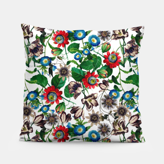 Miniatur Botanical Flowers Pillow, Live Heroes