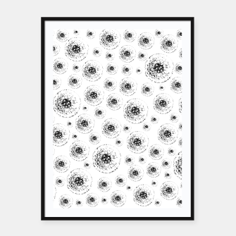 Thumbnail image of Dandelions abstract Framed poster, Live Heroes