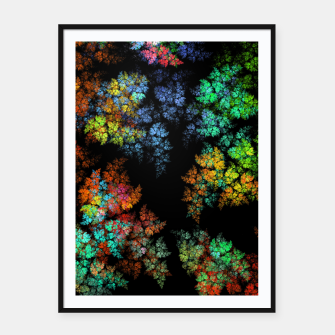 Thumbnail image of Glowing leaves Framed poster, Live Heroes